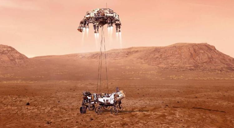 Momento histórico, aterriza nueva nave en Marte (VIDEO)