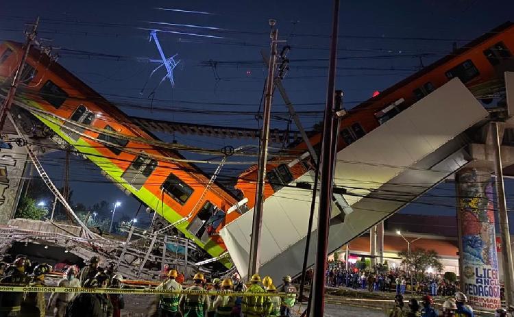 Se desploma Metro en México, 23 muertos hasta el momento