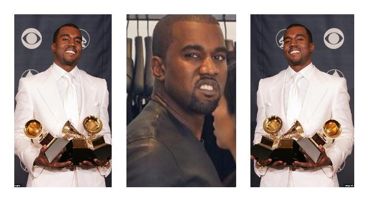No vas a creer lo que Kanye West le hizo a su Gammy (VIDEO)